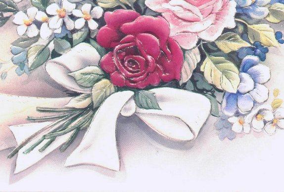 Ramo de Flores Com Laço