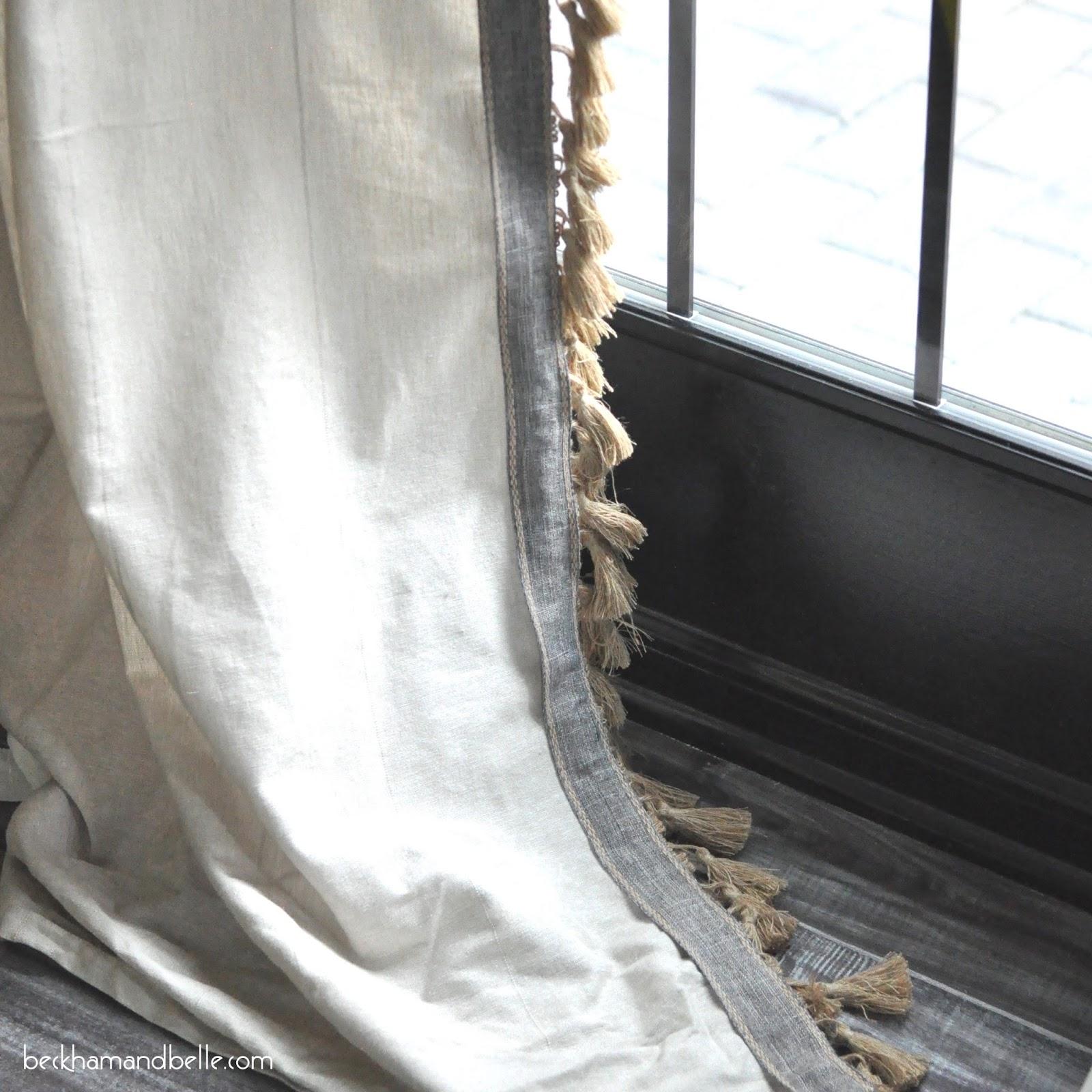 Anthro Inspired Jute Tassel Trim Curtains