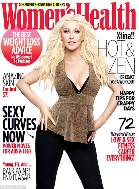 Actress, Singer, @ Christina Aguilera - Women's Health, March 2016