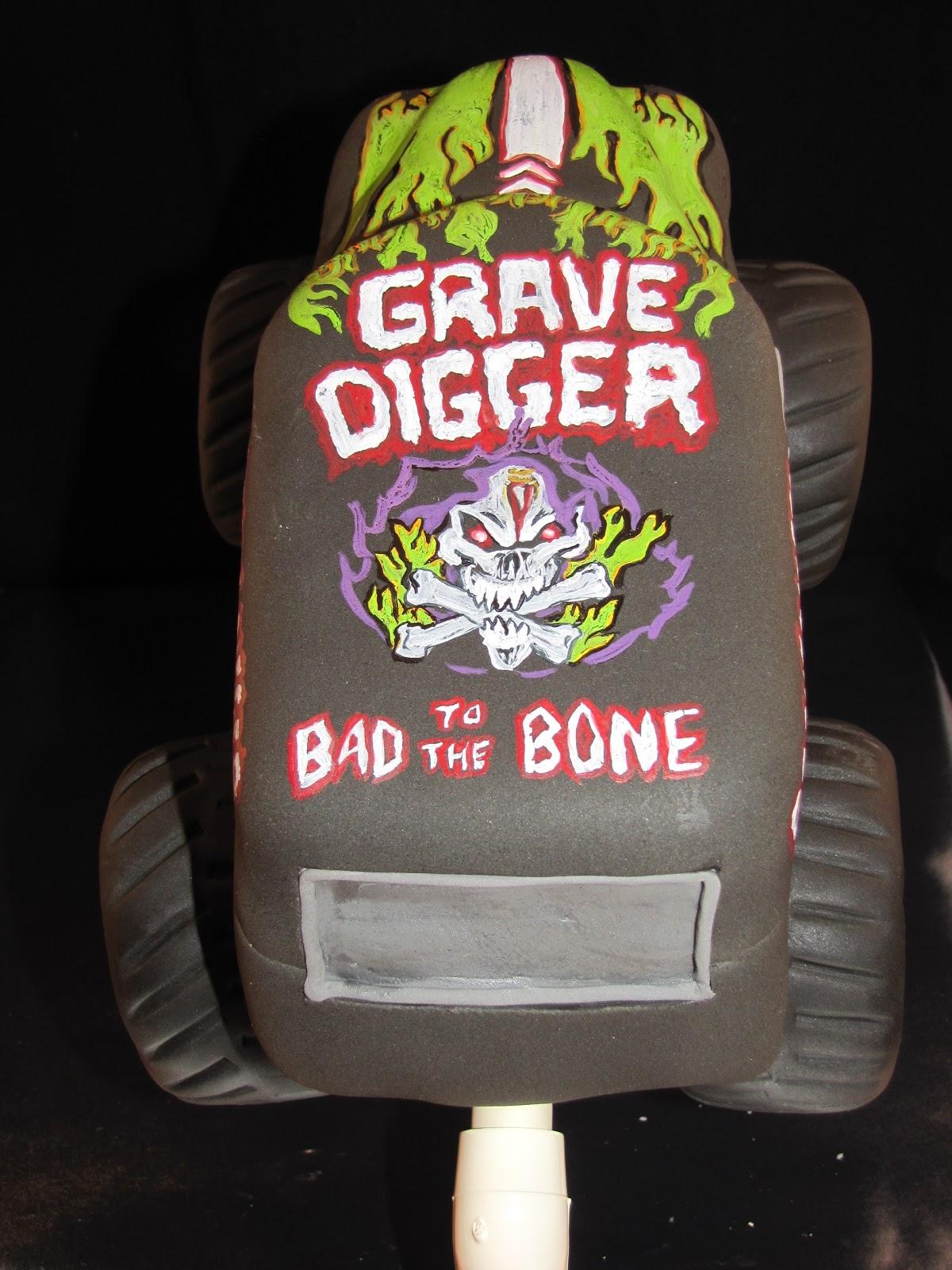 Grave Digger Monster Truck Cupcake Jump
