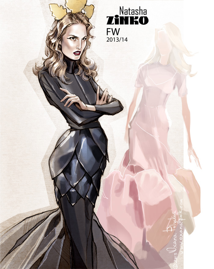 Natasha Zinko FW illustration by Oxana Polk:
