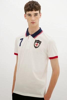 camisa polo bandeira Inglaterra da Zara para a Copa do Mundo 2014