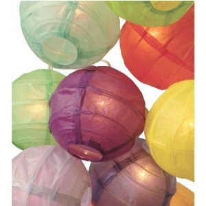 Multicolor Paper Lantern String Lights
