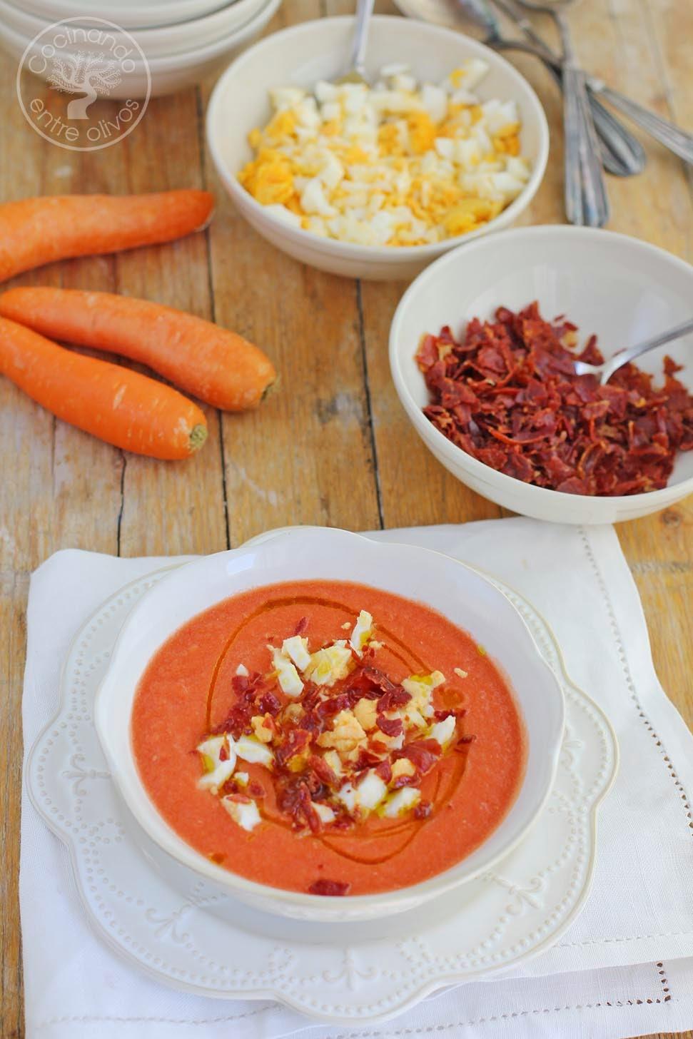 Cocinando entre olivos salmorejo de zanahorias receta for Cocinando entre olivos