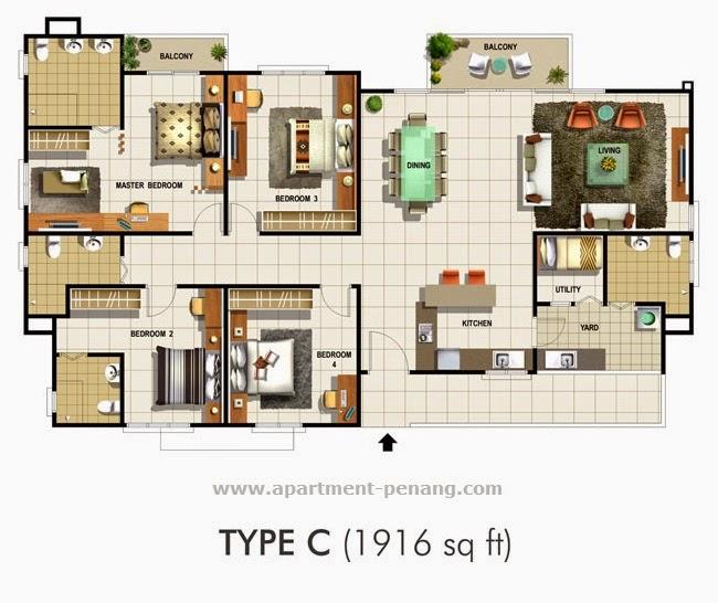 Meridien Residence Apartment Penang Com
