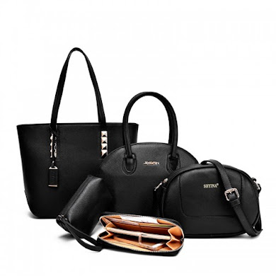 MULTI FUNCTION BAG (5 IN 1 SET) - BLACK