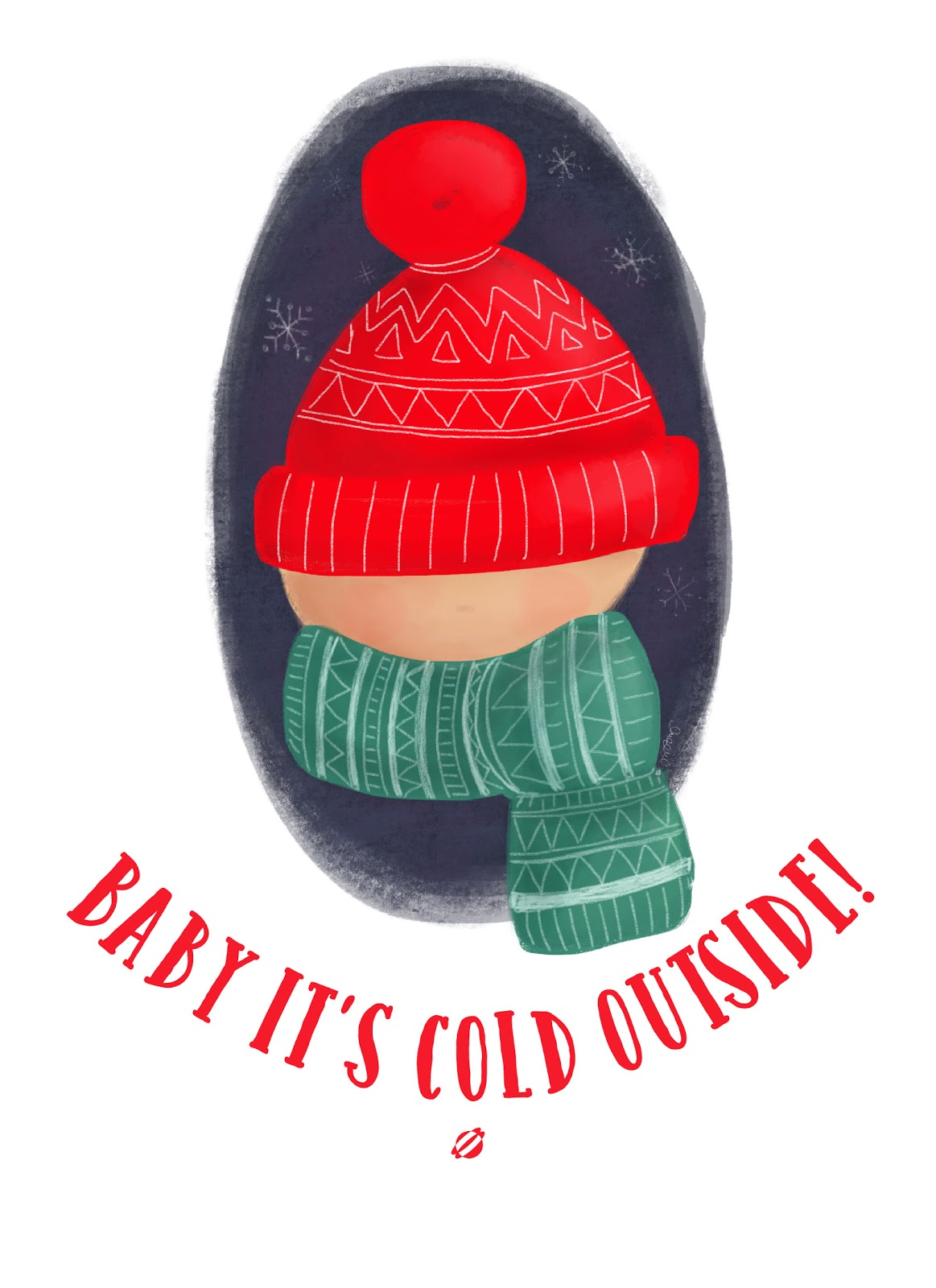 LostBumblebee ©2014 MDBN- Baby It's Cold Outside- Free Printable- Personal Use Only
