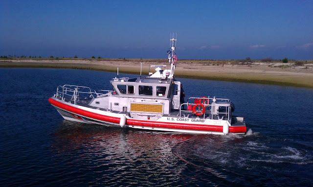 New 45-foot Response Boat-Medium (RB-M) at Station Eatons Neck. USCG aux photo by Bob Daraio