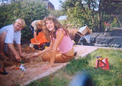 дача, детство, песочница, игра
