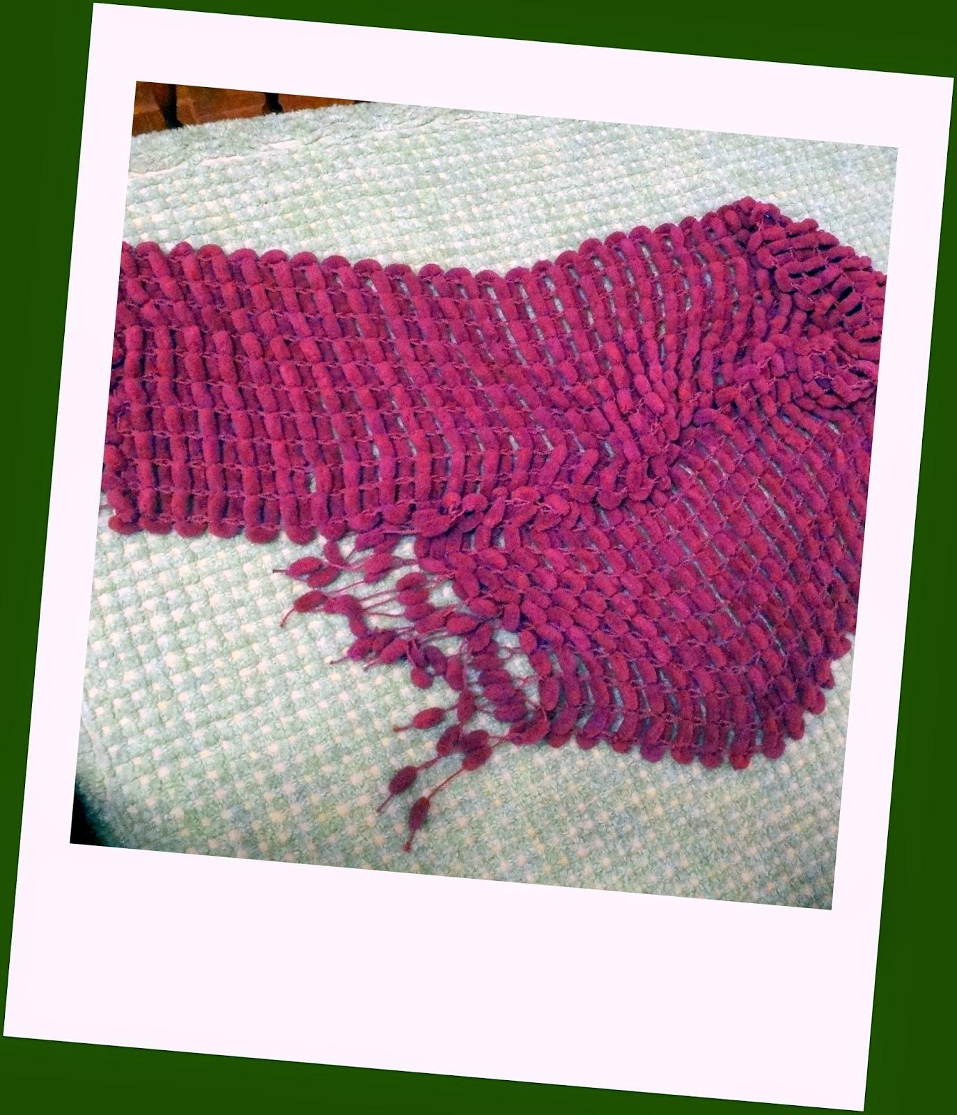 Bordados ganchillo y punto bufandas de lana - Puntos de lana ...
