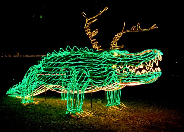 Disegno karina gentinetta another christmas in new orleans for Alligator lawn decoration