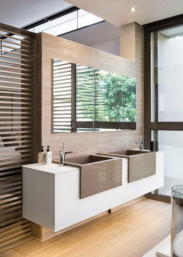 27 ba os minimalistas en fotos cuando menos es m s for Best bathroom designs in south africa