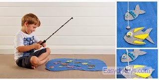 DIY easy fishing toys