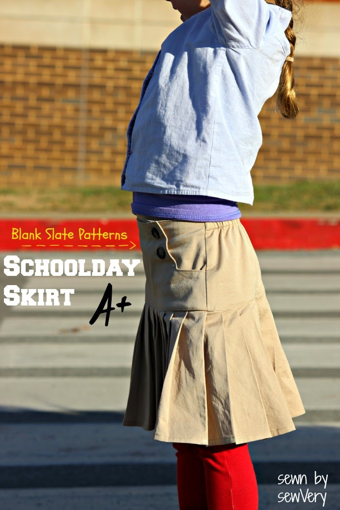 Schoolday Skirt by Blank Slate Patterns sewn by sewVery