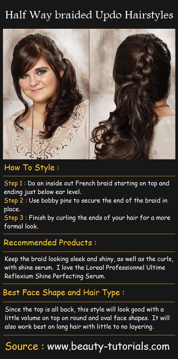 Half way braided updo hairstyles