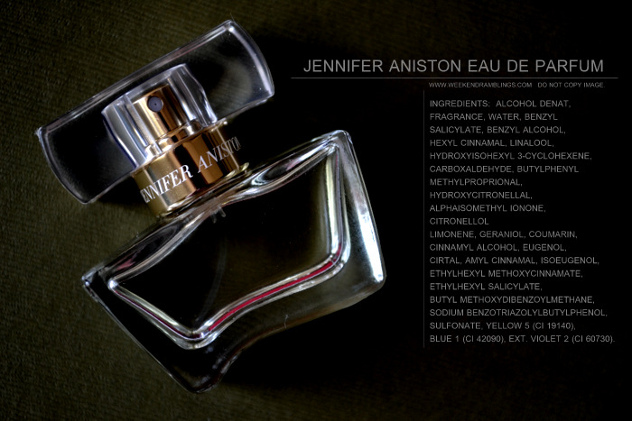 Jennifer Aniston Eau de Parfum EDP Spray Perfume Fragrance for Women Blog Reviews Ingredients