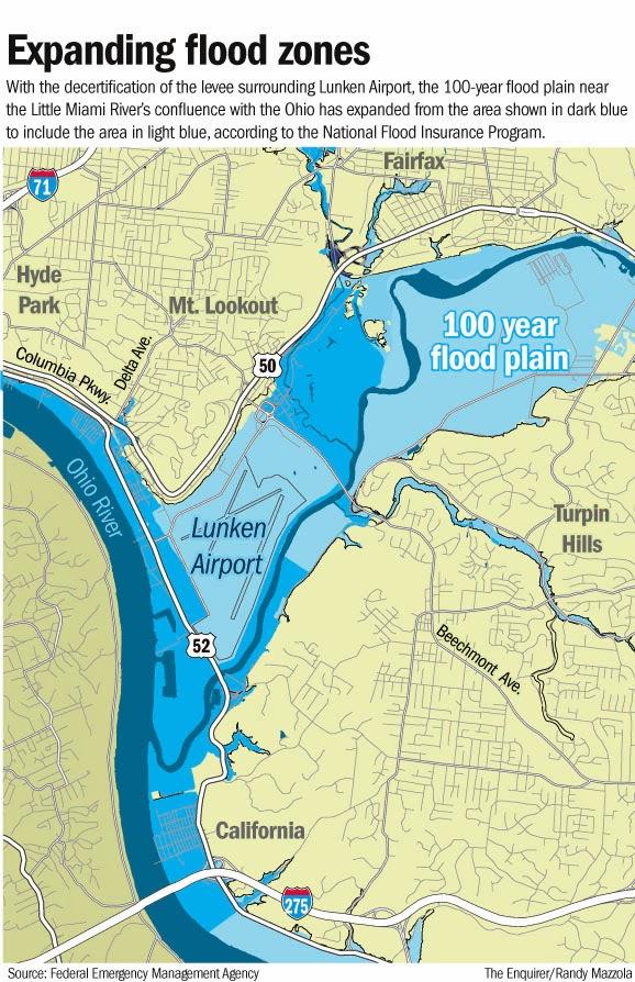 Letters From A Farmer In Ohio Flood Zone Changes Hit Cincinnati - 100 year flood plain map