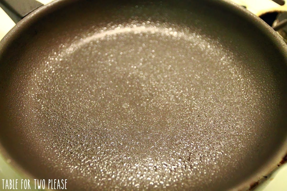 Frying pan sprayed | Table for Two, please?