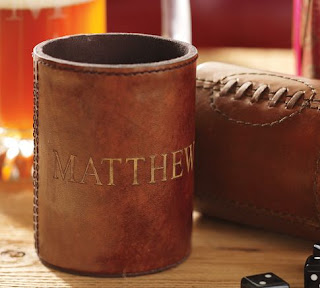 Football Leather Bottle Cooler