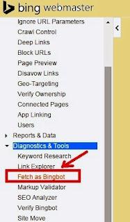 Gambar Cara Fetch As Bingbot Url Di Bing Webmaster