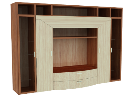 Muebles de melamina y madera plano de mueble para tv ,audio y ...