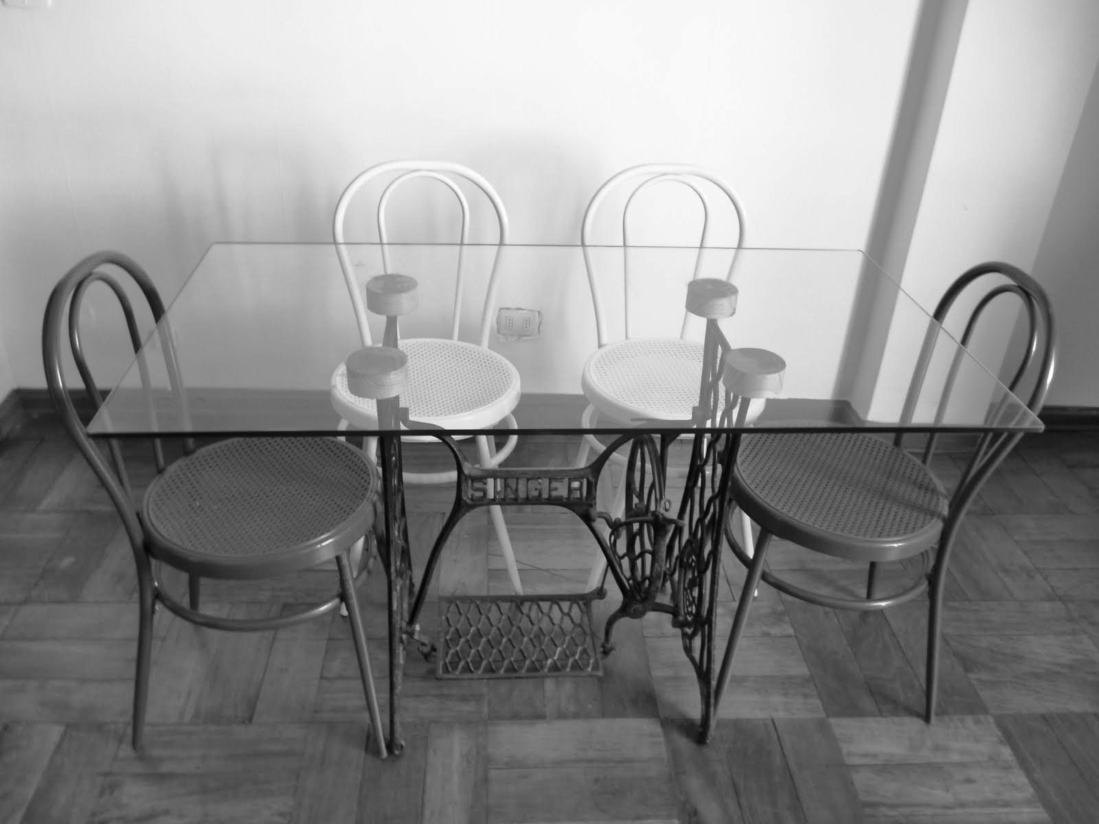 Mesas de comedor y desayunadores hechos con bases de - Mesas de recibidor antiguas ...