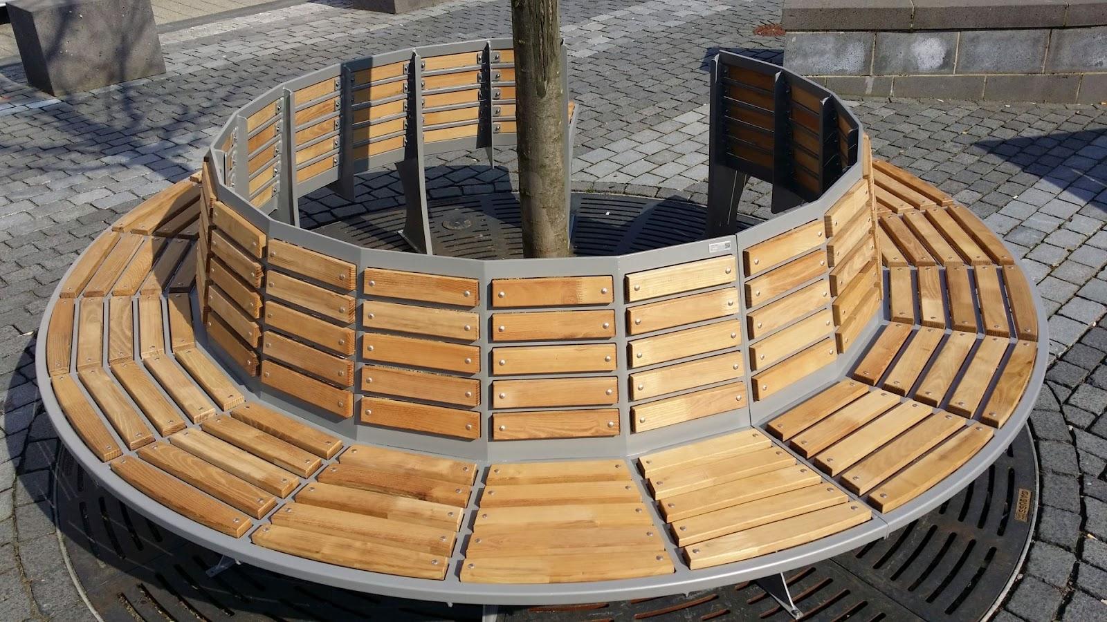 rundbank f r baum fr bel metallbau. Black Bedroom Furniture Sets. Home Design Ideas