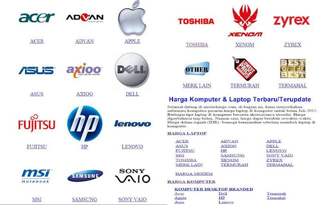 Harga PC/laptop terbaru/terupdate