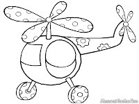 Download Lembar Buku Mewarnai Gambar Helikopter Gratis