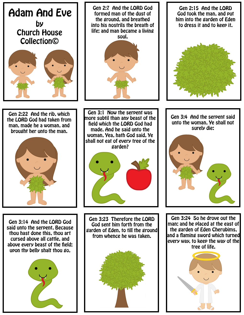 Free Adam And Eve Mini Booklet Printable For Kids In Sunday School or Children's Church