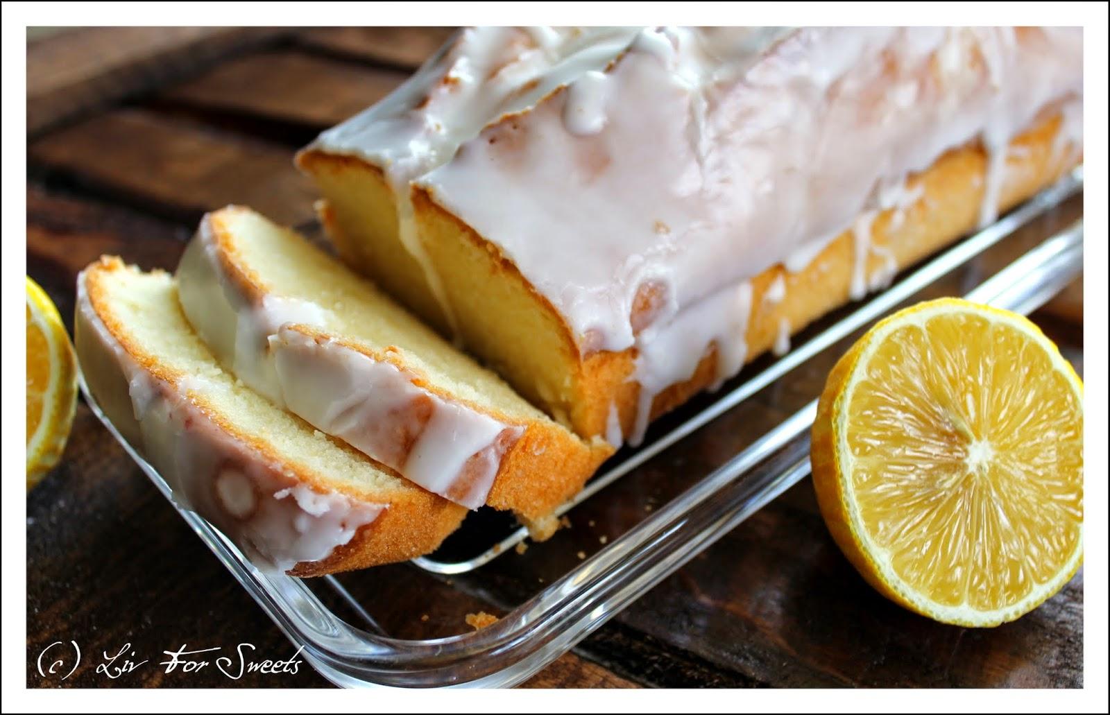 Zitronenkuchen zuckerguss