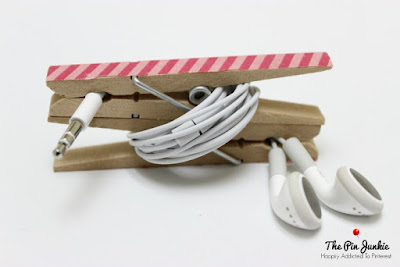 DIY Cord Keeper, shared by The Pin Junkie at The Chicken Chick's Clever Chicks Blog Hop