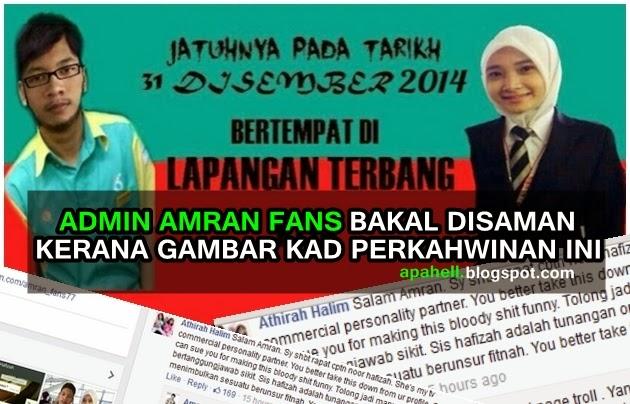 Gempar!! Admin Amran Fans Bakal Disaman Kerana Pilot Hafizah (4 Gambar)
