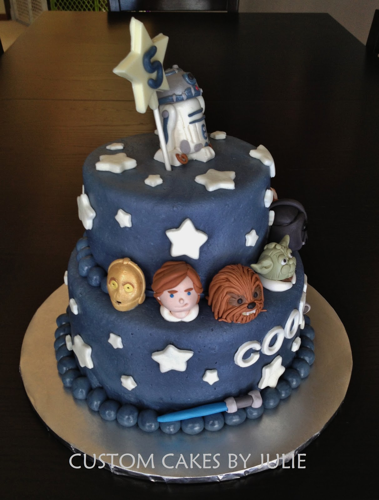 Images Of A Star Wars Cake : Custom Cakes by Julie: Star Wars Cake