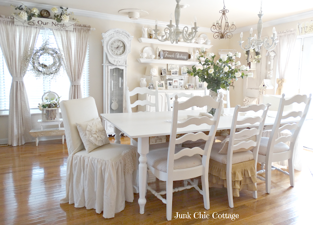 chic cottage dining room makeover