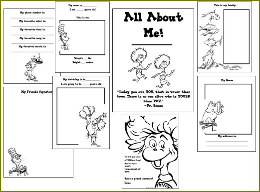 math worksheet : the art of teaching a kindergarten blog dr seuss all about me book : All About Me Worksheets For Kindergarten