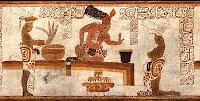 Maya mit Schokolade