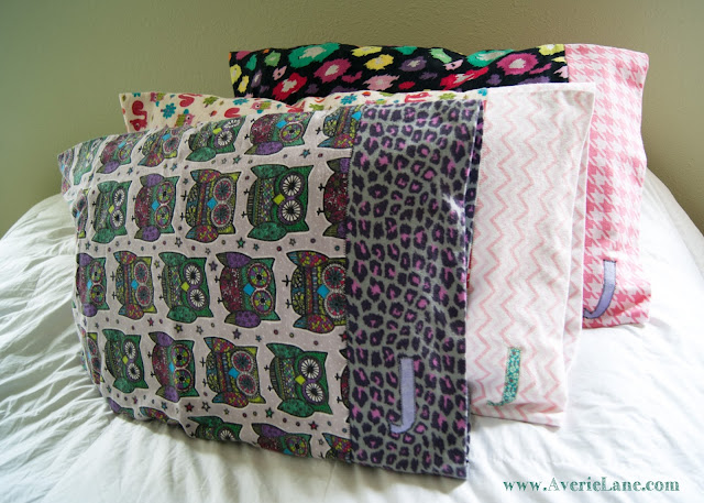 Snuggle Flannel and Initial Pillowcases