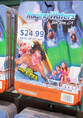 Enjoy swimming in the pool or water slides at Raging Waters in San Jose, CA