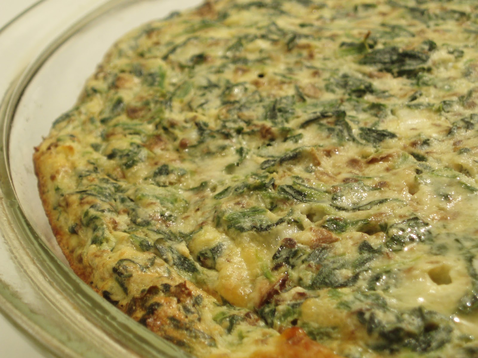 Open Mouth Insert Food: Spinach and Mushroom Frittata