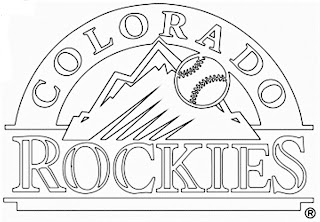 Escudo de los rockies de colorado para colorear