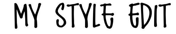 My Style Edit