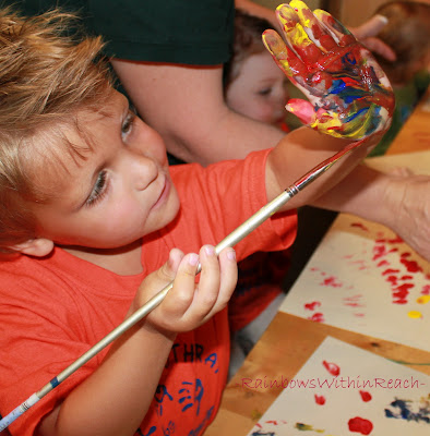 photo of: fine motor in Art for children, painting for kids, fine motor development