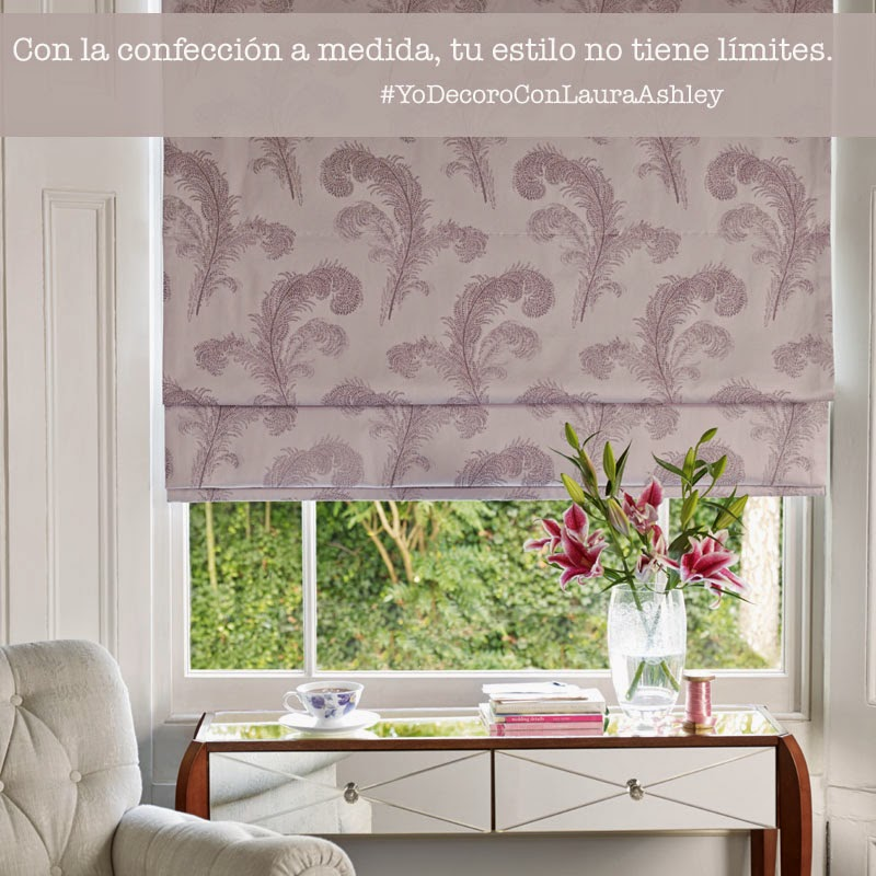 Confección a medida con Laura Ashley, cortinas, estores,...