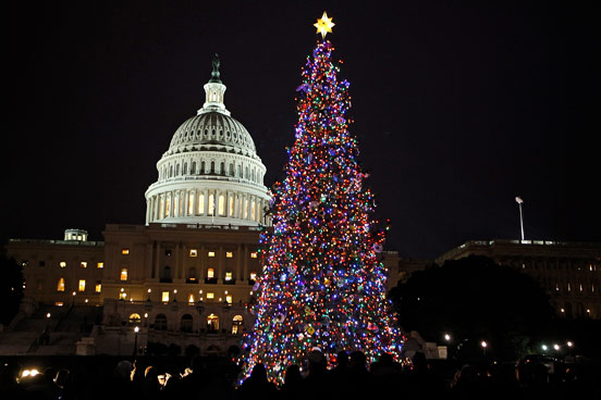 God and logic the first christmas tree for Top 10 christmas traditions in america