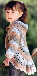 Free Crochet Vest Pattern   Circular Crochet Shrug Bolero Cardigen Hippie Vest