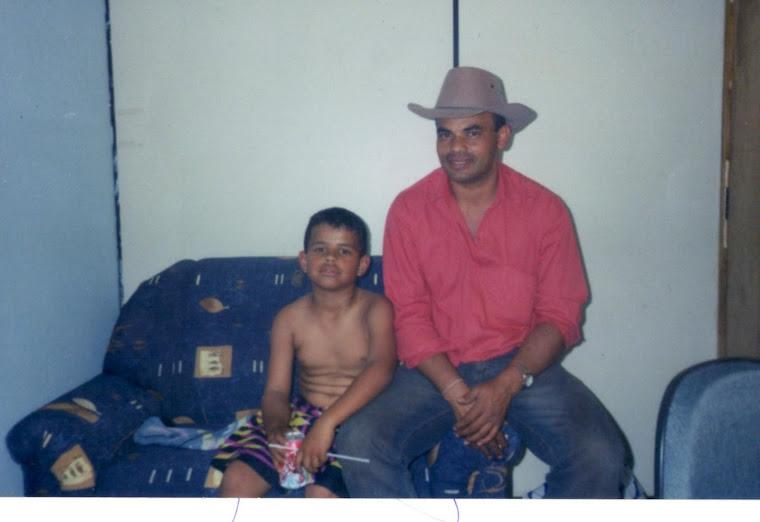 Com o filho Julio
