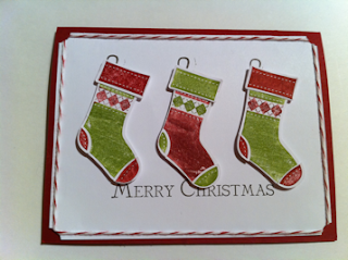 Christmas Stamp-a-stack card class Vancouver