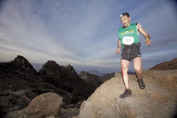 El Bejarano Miguel heras en una prueba de trail