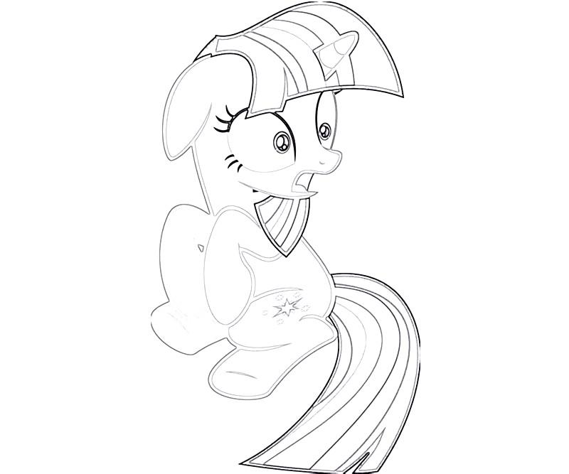 #29 Twilight Sparkle Coloring Page